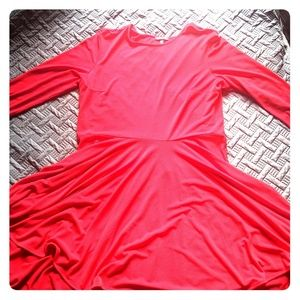 Express dress size XL 3/4 sleeves Red